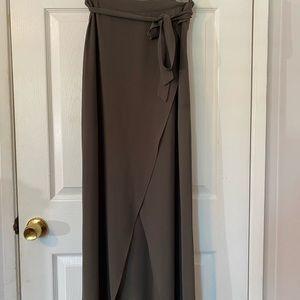 Hunter green maxi skirt
